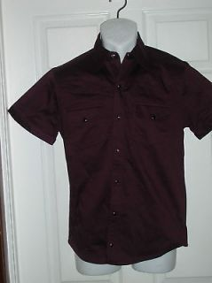INTERNATIONAL MALE THE ENVY SHIRT LARGE WINE $59.00