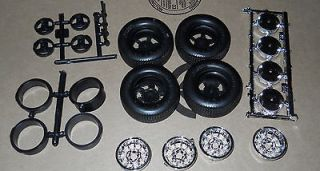 WHEELS AND TIRES GENERAL LEE MODEL SET PARTS 1/16 NEW FREE SHIPPING