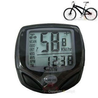 Wireless Bicycle Bike LCD Cycling Computer Odometer Speedometer WXmb