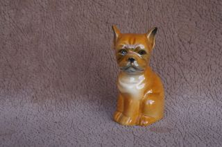 Vintage GOEBEL West Germany BOXER Puppy Dog figurine Miniature SIT