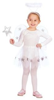 LIL ANGEL SET Halloween COSTUME w/ wigs & halo ~ size up to 4T