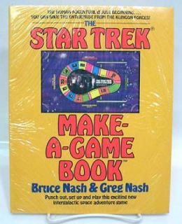 STAR TREK MAKE A GAME Punch Out BOOK Factory Sealed