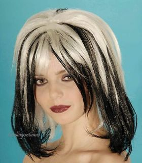 white gray black tip wig adult lady gaga style witch halloween costume