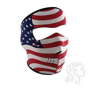 USA STARS STRIPES AMERICAN FLAG NEOPRENE FULL FACE MASK ATV BIKER