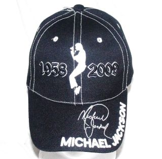 NWOT MICHAEL JACKSON HAT KING OF POP STITCHED AUTO WITH POSE 1958 2009