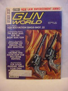 Gun World 11/77 LAW ENF AMMO RIGHT SLUG WILD BOAR HUNT