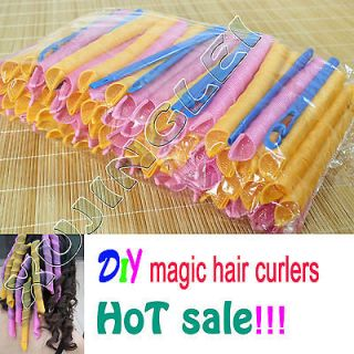 A+ 55cm Hair Curlers Curlformers Spiral Ringlets Perm Leverage rollers