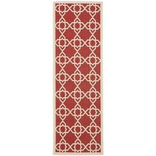 Red/Beige Indoor/Outdoor Poolside Carpet Rug 2 4 x 6 7 Runner