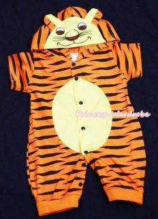 HALLOWEEN Baby Toddler TIGER One Piece Junpsuit Outfit UNISEX Costume