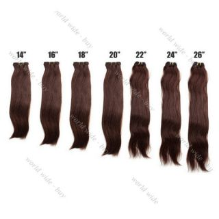 Straight Remy Brazilian 100% Human Hair Weaving Weft Extensions #4