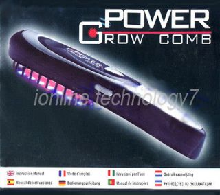 Laser Treatment Power Grow Comb Kit Stop Hair Loss Revolution Regrowth