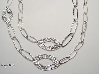 SILPADA STERLING SILVER FILIGREE & OVAL LINK NECKLACE N2355 $219
