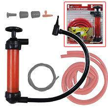USE Air Pump + Auto Gas Water OIL SIPHON Syphon Hose DIY Hand Tools