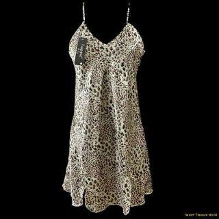 Animal Leopard Tiger Print Negligee PJ Nightgown S M L XL #S105116