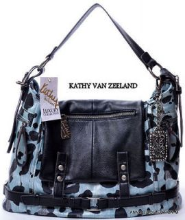 kathy van zeeland leopard in Womens Handbags & Bags