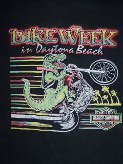 VINTAGE KIDS HARLEY DAVIDSON BIKE WEEK in DAYTONA BEACH SHIRT youth
