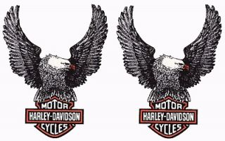 HARLEY DAVIDSON UP WING EAGLE DECAL PAIR