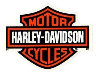 INSIDE WINDOW VINTAGE HARLEY DAVIDSON D1 BAR AND SHIELD 4 1/8 STICKER