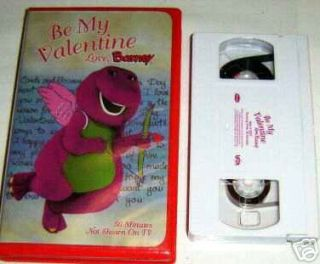 Be My Valentine, Love Barney Vhs Video~Only $2.75 Ship