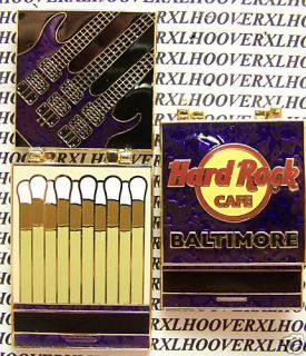 HARD ROCK CAFE BALTIMORE MATCHBOOK SERIES #7 TRIPLE NECK GUITAR LE