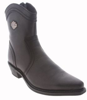 Harley Davidson CAMMIE Womens Western Style Motorcycle Boots BLACK