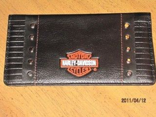 Harley Davidson Faux Leather Checkbook Cover