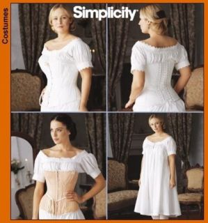Civil War Era Corset Lace Up S L Simplicity 7215 Chemise Victorian