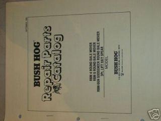 BUSH HOG RBM4 RBM6 ROUND BALE MOVER PARTS BOOK MANUAL