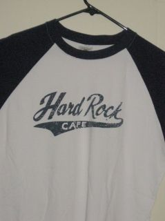 HARD ROCK CAFE t shirt raglan LONDON 71 jersey sz L 100% Combed Cotton