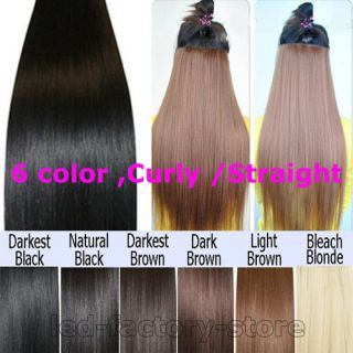★ synthetic clip in hair extensions 5 clips for 2012 human favored