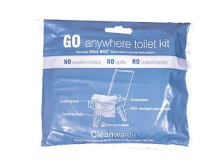 GO ANYWHERE WASTE PORTABLE TOILET BATHROOM KIT BAGS NEW