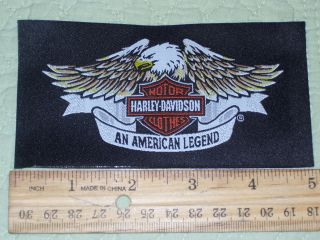 HARLEY DAVIDSON MOTORCYCLE SEW IN or ON CLOTHING LABEL