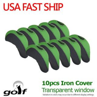 10 pcs Golf Head Cover Club Iron Putter HeadCovers Protect set