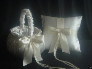 Newly listed 2 IVORY Flower Girl Baskets & 1 Ring Bearer Pillow, Made