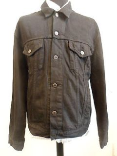 mens levis black denim jacket in Coats & Jackets