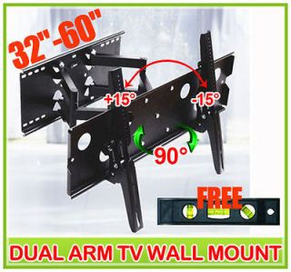 New Articulating Dual Arm 32 60 LCD Plasma TV Wall Mount Bracket