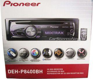 DEH P8400BH CAR CD/IPOD/iPHONE/ USB AUX PLAYER HD RADIO BLUETOOTH