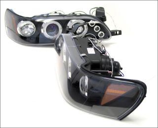 HALO LED Projector Headlights Head Light Lamps for Toyota 93 97