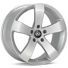 ENKEI GP5 RIMS SILVER 17x8 5x100 +45 (4 NEW WHEELS)