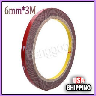 New 6mm*3M Auto Car Motor Acrylic Foam Double Sided Attachment Tape
