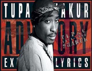 PAC TUPAC Shakur hip hop west coast rap advisory lyrics glossy photo