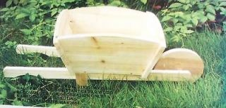 wooden wheelbarrow in Home & Garden