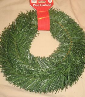NEW 15 Ft Deep Green Pine Roping In/Outdoor Holiday Christmas Garland