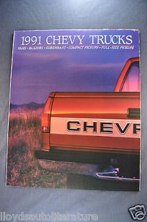 1991 Chevrolet Trucks Brochure Pickup 454 SS, Blazer Suburban S 10