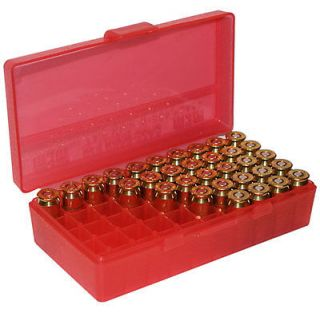 Gard™ 50 Round Ammo Box Pistol Flip Top CLEAR RED P50 9M 16 9mm 380