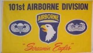101 AIR BORNE SCREAMING EAGLE NEW FLAG BANNER 3 x 5