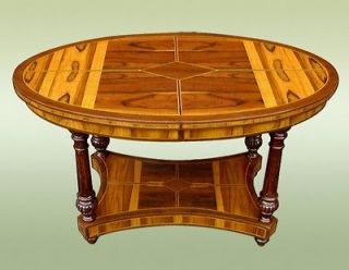 Fine Marquetry Oval Art Deco style 2 tier coffee table