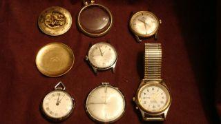 Lot Mens Watches + 1 Ladies Watch   Bucherer, Westclox, Armitron, Etc