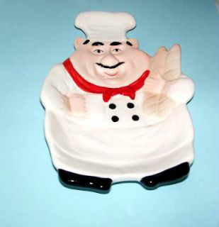 FAT CHEF~ Spoonrest Bistro Italian Cook Candy Holder New