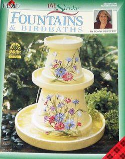 FOUNTAINS & BIRDBATHS Donna Dewberry Painting Pattern Book